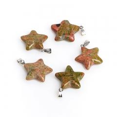 Кулон унакит ЮАР звезда 2,5-3 см