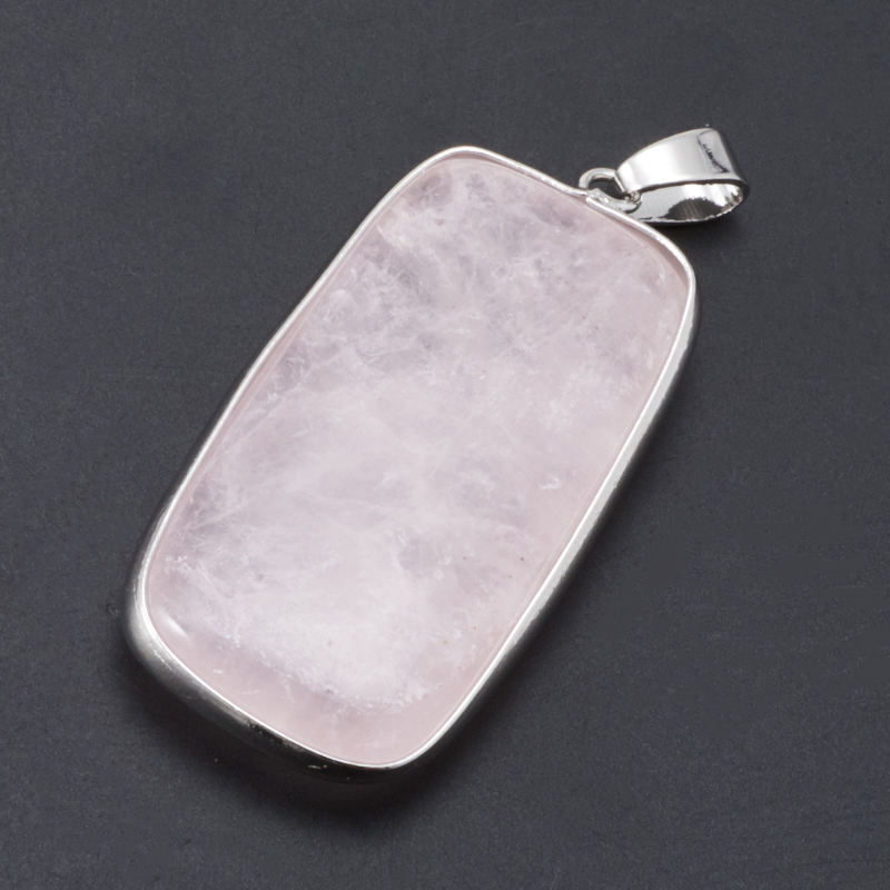Кулон розовый кварц прямоугольник 5 см цена