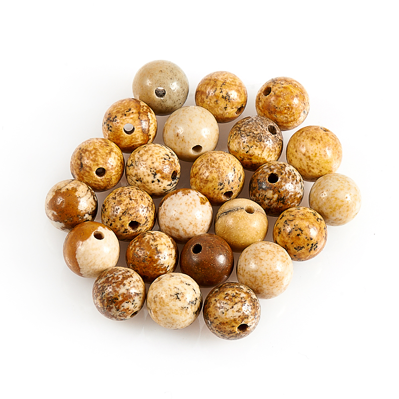 Бусина яшма рисунчатая  шарик 6-6,5 мм (1 шт) бусина бычий глаз шарик 6 6 5 мм 1 шт