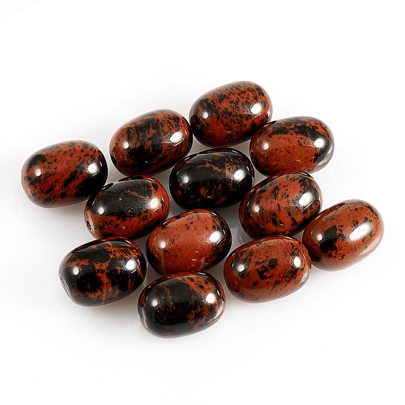 Бусина обсидиан коричневый  бочонок 10*14 мм (1 шт) бусина обсидиан коричневый сплюснутый шар 6 мм 1 шт