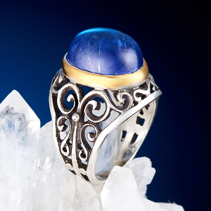 Кольцо танзанит  (серебро 925 пр., позолота) размер 17,5