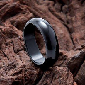 Кольцо агат черный Бразилия (цельное) размер 17