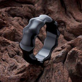 Кольцо агат черный Бразилия (цельное) размер 20,5