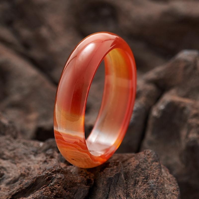 Кольцо сердолик  (цельное) размер 17