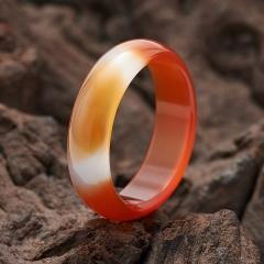 Кольцо сердолик Ботсвана (цельное) размер 17,5