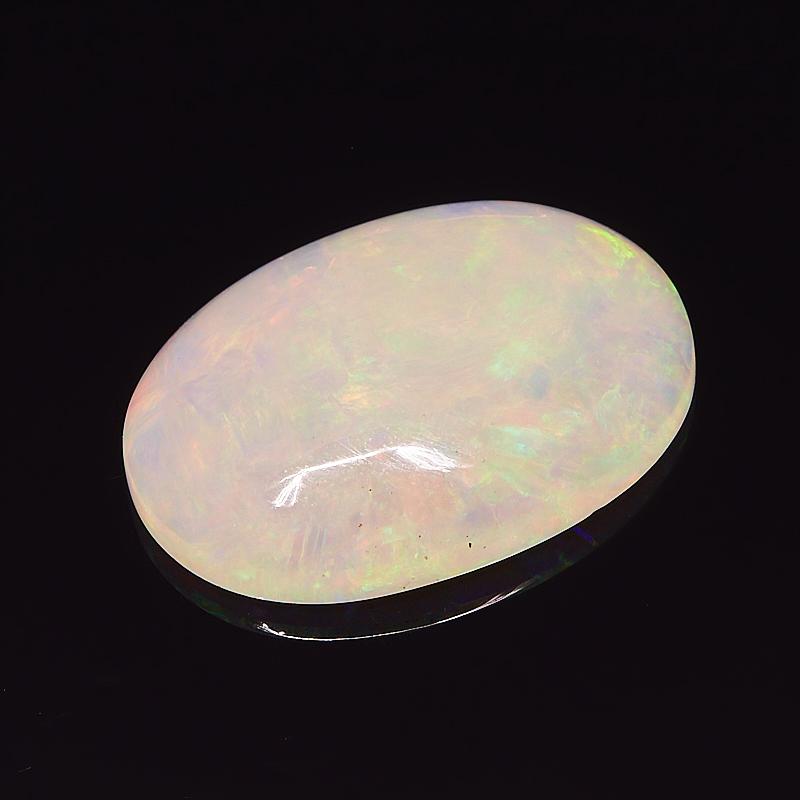 Кабошон опал благородный белый 14*19,5 мм