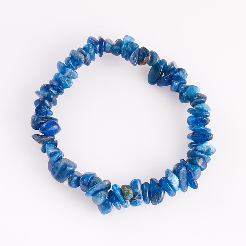 Браслет апатит синий  16 cм от Mineralmarket
