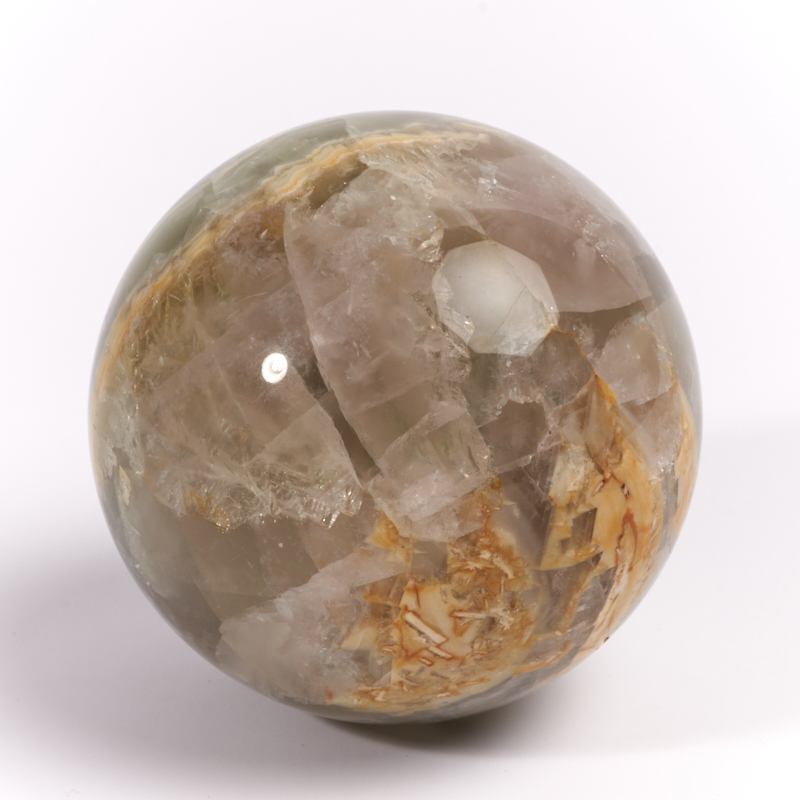 Шар флюорит зеленый  6,5 см бусина авантюрин зеленый сплюснутый шар 6 6 5 мм 1 шт