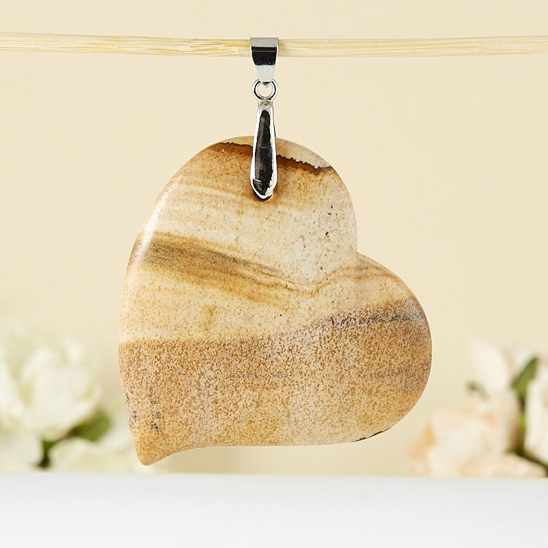 Кулон яшма рисунчатая  сердечко 6 см кулон яшма рисунчатая сердечко 6 см
