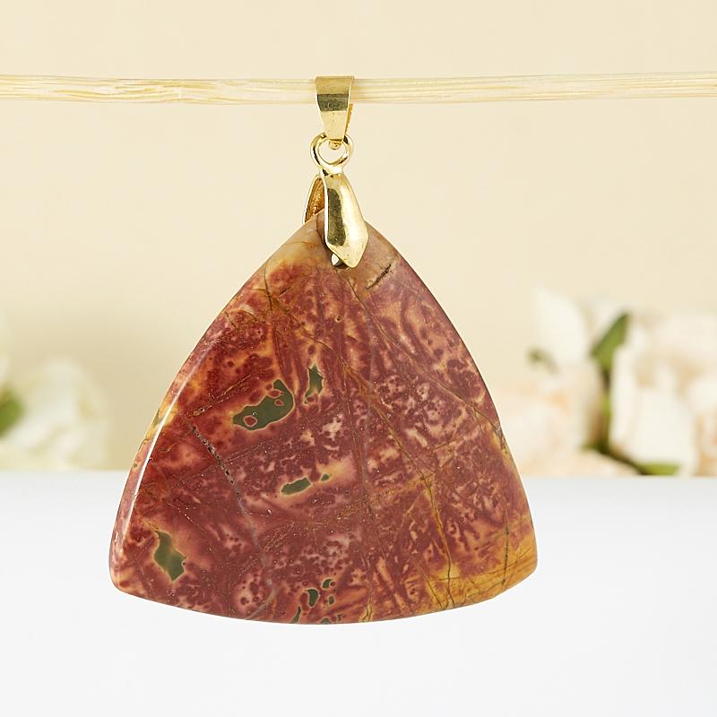 Кулон яшма  треугольник 6,5 см