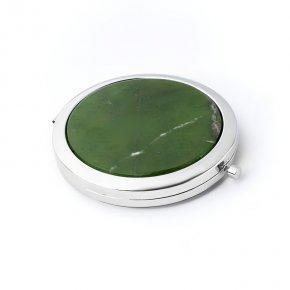 Зеркало нефрит зеленый Россия 7 см