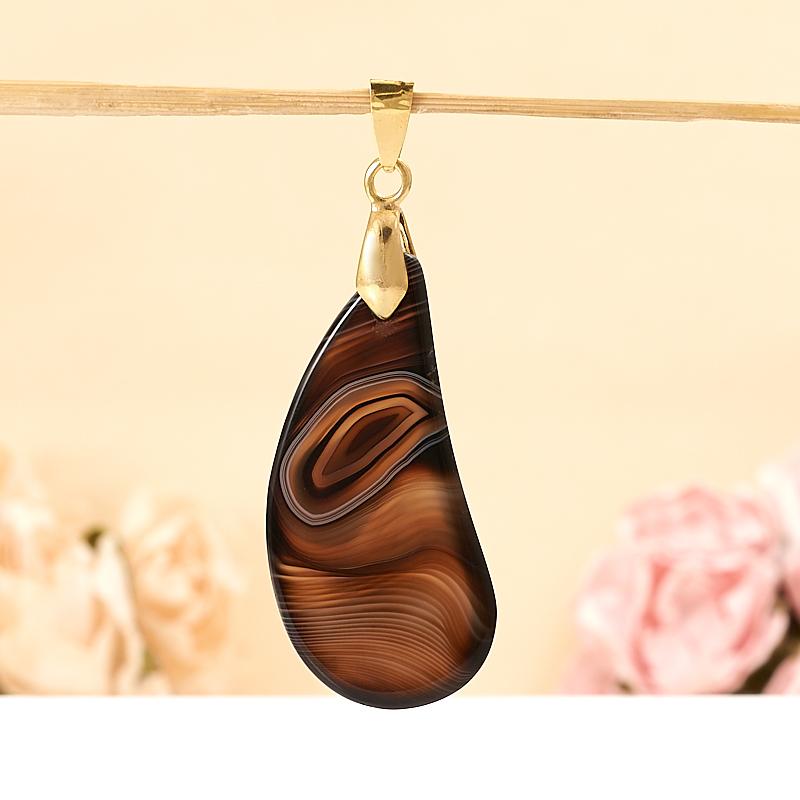 Кулон агат коричневый  5 см
