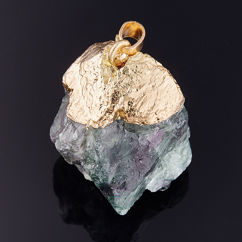 Кулон флюорит кристалл 3,5-4 см