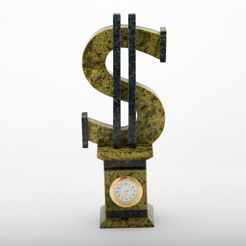 Часы змеевик  6,5х26 см таблетница змеевик 5 см