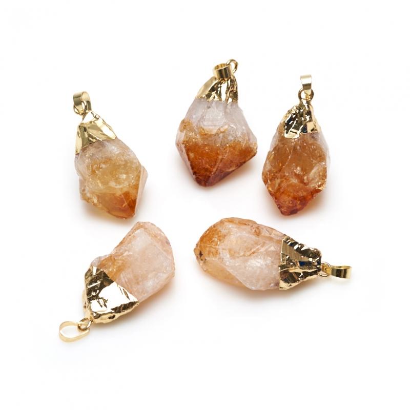 Кулон цитрин кристалл 4-5 см