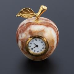 Часы яблоко оникс мраморный Пакистан 5х6 см