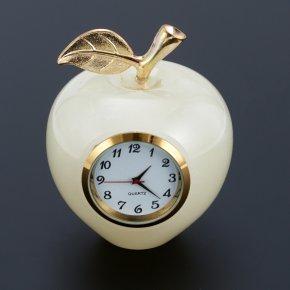Часы яблоко оникс мраморный Пакистан 6х7,5 см