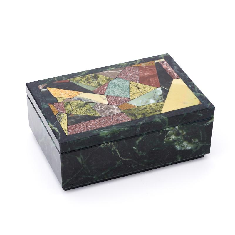 Шкатулка змеевик  16х11х6,5 см неактивный шкатулка сувенир вкусный завтрак 9 6 6 5 см