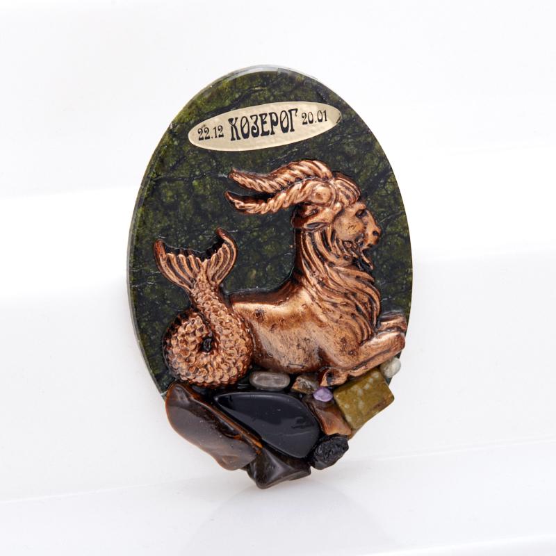 Магнит змеевик Козерог 9,5 см браслет джессика змеевик кахолонг