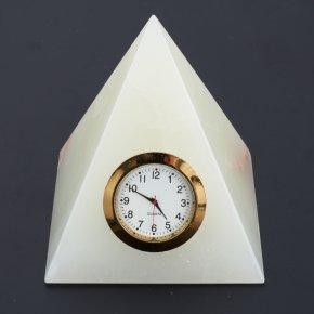 Часы пирамида оникс мраморный Пакистан 10 см