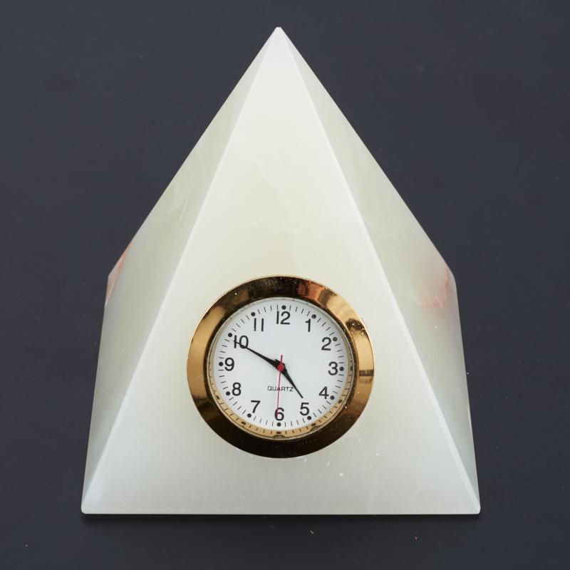 Часы пирамида оникс мраморный 10 см рыба оникс мраморный 8 см