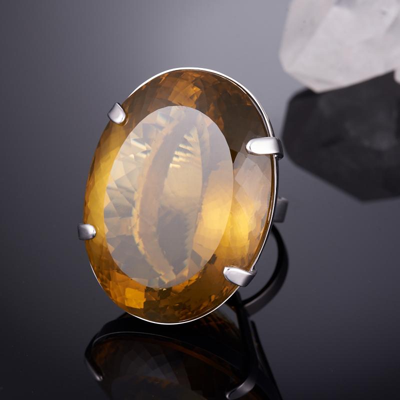 Кольцо цитрин  огранка (серебро 925 пр.) размер 18,5
