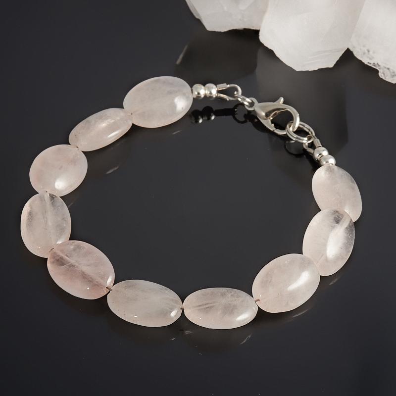 Браслет розовый кварц  15 cм