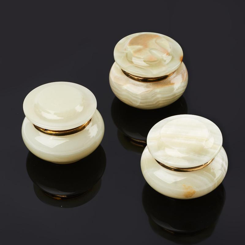 Шкатулка оникс мраморный 6х7 см
