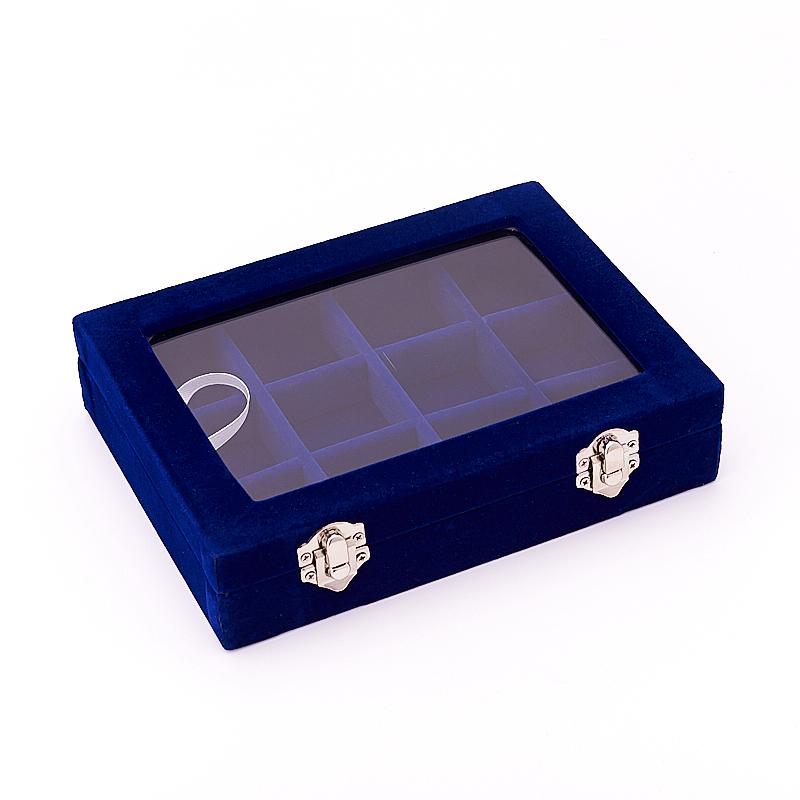 Коробка для коллекции камней (12 ячеек) (синий)