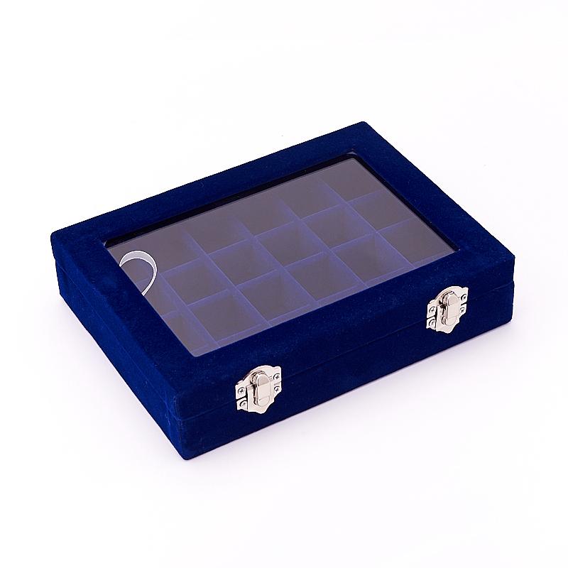 Коробка для коллекции камней (24 ячейки) (синий)