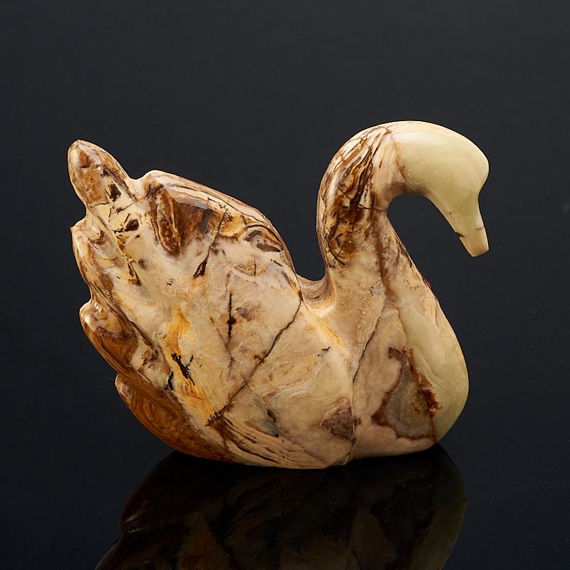 Лебедь оникс мраморный Пакистан 7,5 см