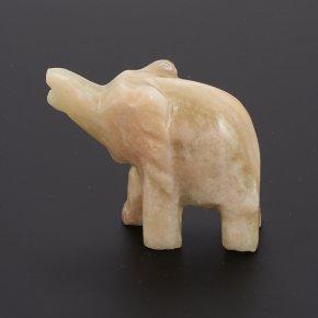 Слон оникс мраморный Пакистан 8 см