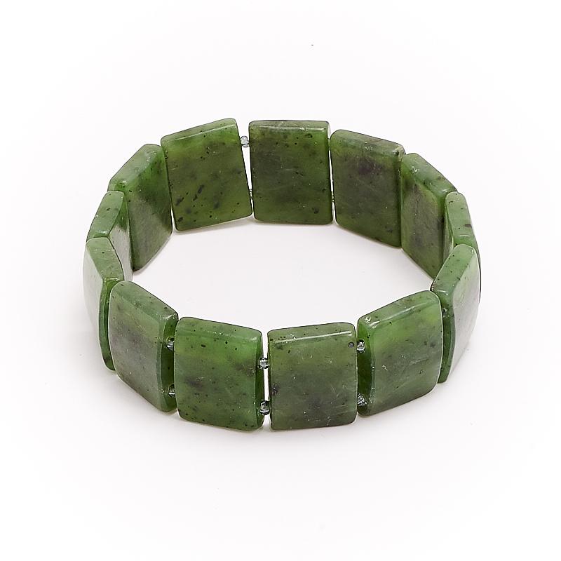 Браслет нефрит зеленый  20 cм браслет авантюрин зеленый огранка 10 мм 17 cм