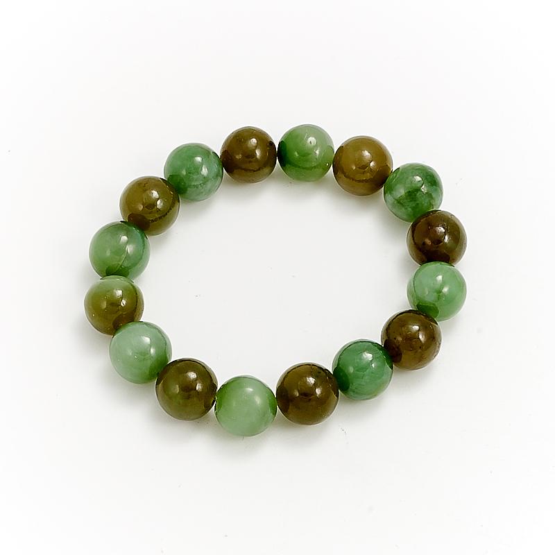Браслет нефрит зеленый  11 мм 15 cм браслет нефрит зеленый 8 мм 17 cм