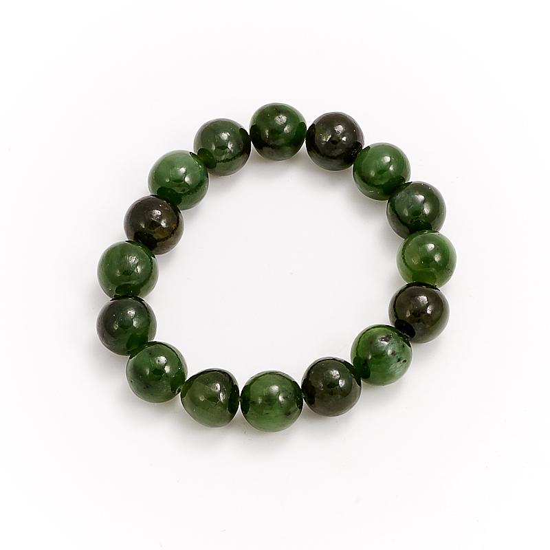 Браслет нефрит зеленый  11 мм 16 cм браслет нефрит зеленый 8 мм 17 cм