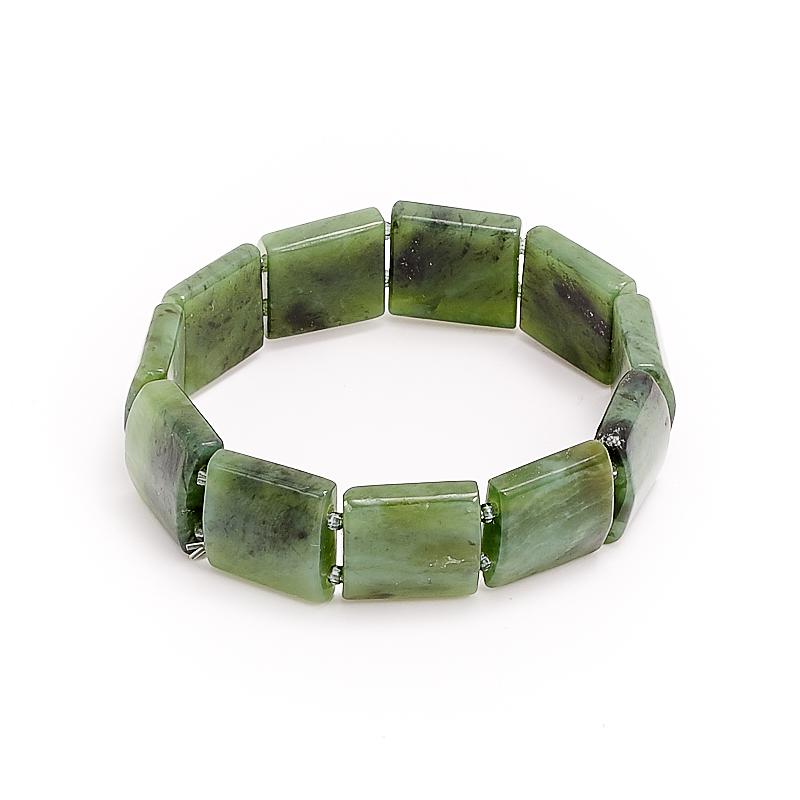 Браслет нефрит зеленый  16 cм браслет авантюрин зеленый огранка 10 мм 17 cм