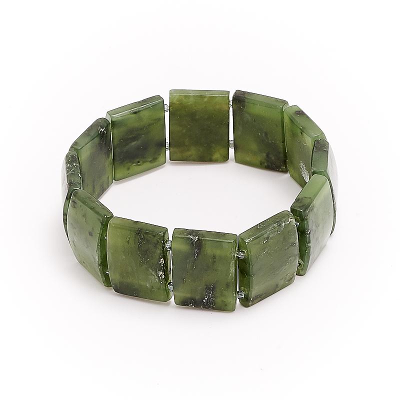 Браслет нефрит зеленый  18 cм браслет авантюрин зеленый огранка 10 мм 17 cм