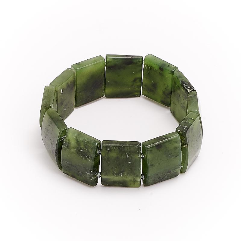 Браслет нефрит зеленый  17 cм браслет авантюрин зеленый 17 cм