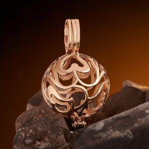 Кулон (без камня) шар (золото 585 пр.)