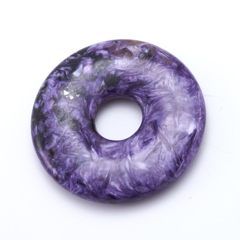 Кулон чароит  круг 4,5 см