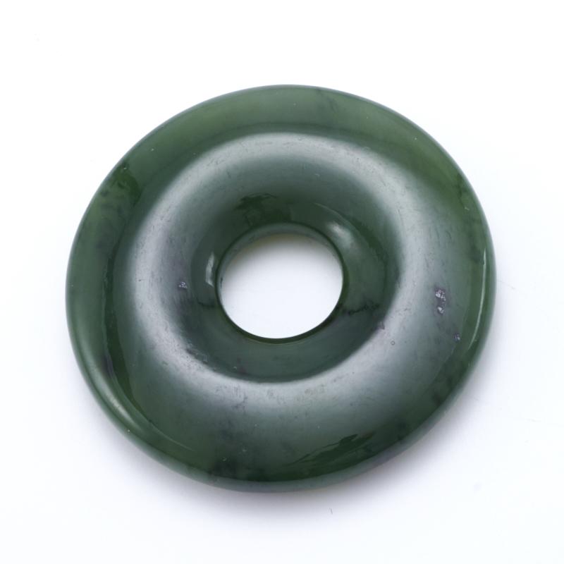 Кулон нефрит зеленый  круг 4,5 см кабошон нефрит зеленый 10 16 мм