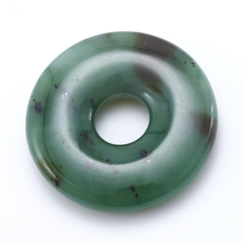 Кулон нефрит зеленый  круг 4,5 см кулон круг тигровый глаз 5 5 см