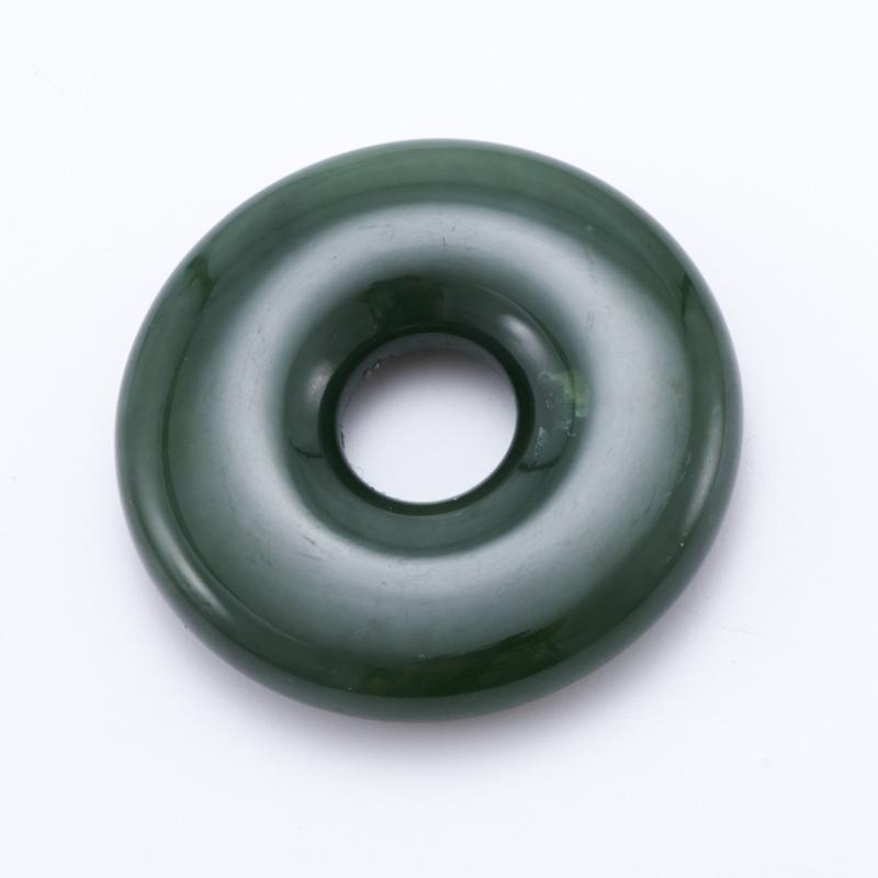 Кулон нефрит зеленый  круг 4,5 см кулон капля тигровый глаз 5 см