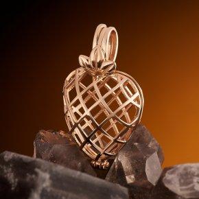 Кулон (без камня) сердечко (золото 585 пр.)