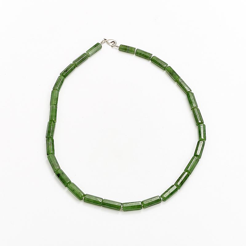 Бусы нефрит зеленый  огранка 49 см бусы нефрит зеленый огранка 49 см