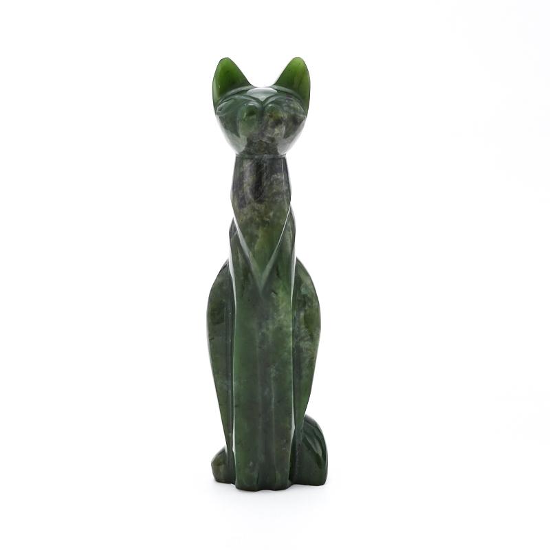 Котик нефрит зеленый  14 см кабошон нефрит зеленый 10 16 мм