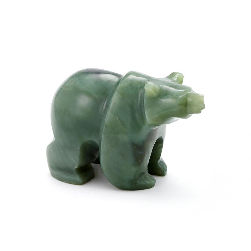 Медведь нефрит зеленый  8 см