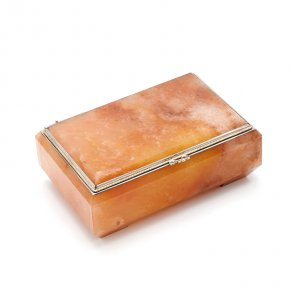 Шкатулка кварцит Россия 11,5х7,5х4,5 см