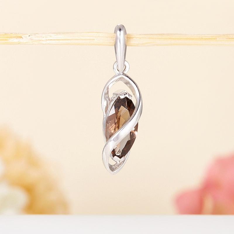 Кулон раухтопаз огранка (серебро 925 пр.) кулон тигровый глаз серебро 925 пр