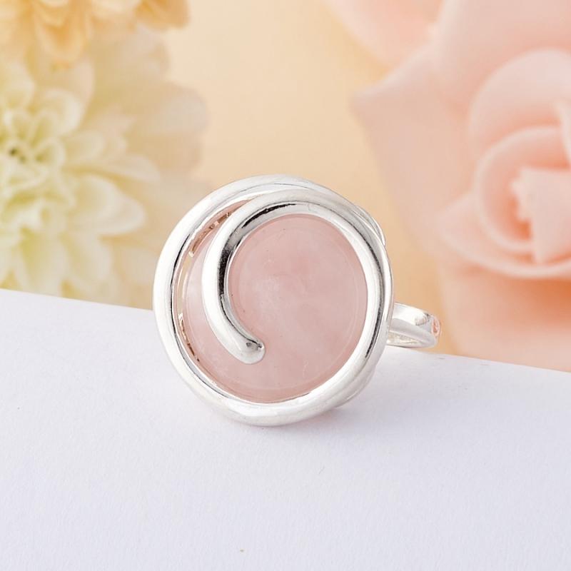 Кольцо розовый кварц  (серебро 925 пр.) размер 18 кольцо авантюрин зеленый серебро 925 пр размер 18
